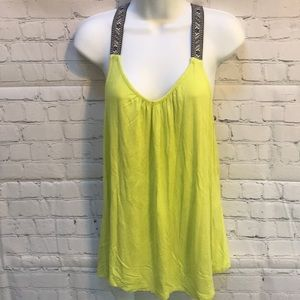 Maurices neon green tank top